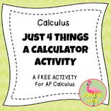 Calculus: Just 4 Things Activity