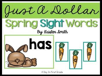 Just A Dollar- Spring Sight Word Scramble