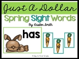 Just A Dollar- Spring Sight Word Scramble