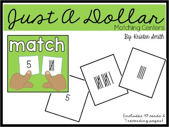 Just A Dollar- Tally Marks 1-20