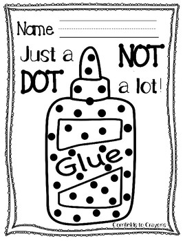 Just A Dot- Glue Rules Practice