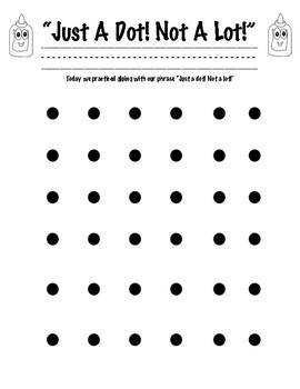 Just A Dot! Not A Lot! Worksheet