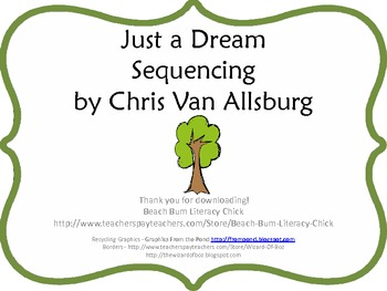 Just A Dream - Sequencing Activity