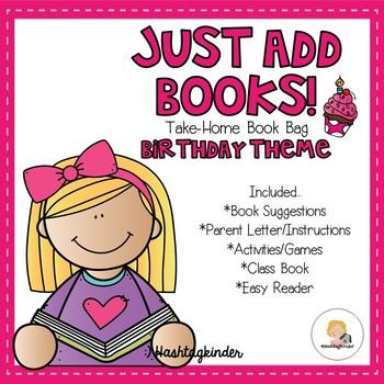 Just Add Books - Take Home Book Bag - Birthday Theme