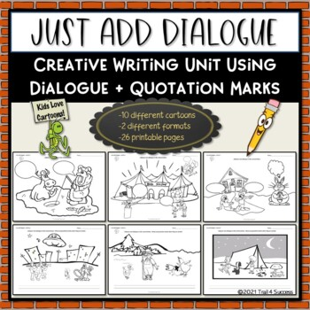 quotation marks cartoon creative writing unit just add dialogue. Black Bedroom Furniture Sets. Home Design Ideas