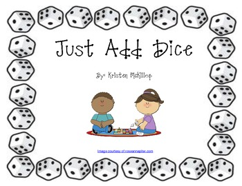 Just Add Dice - 8 Instant math tub work stations