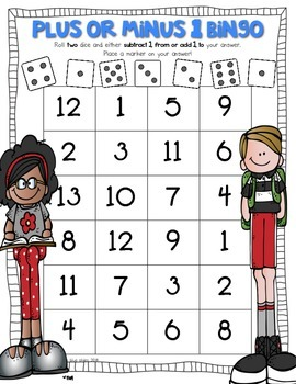 Just Add Dice Back to School Math Games! Print and Go!