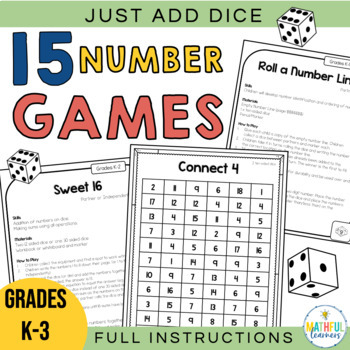 Just Add Dice! Math Games