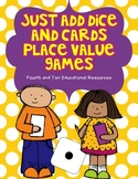 Just Add Dice and Cards Place Value Activities for Bigger Kids