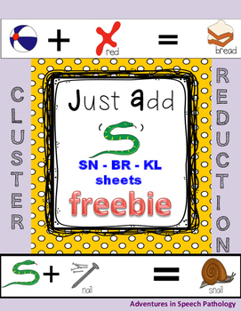 Just Add 'Freebie'- Cluster Reduction Help Sheets
