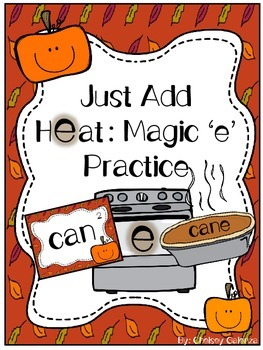 Just Add Heat:Magic 'e' Practice- Thanksgiving Edition