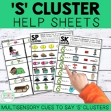 S Cluster Help Sheets for Speech Therapy