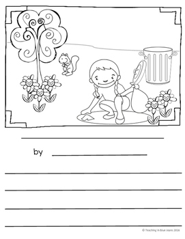Picture Writing Prompts for April {Spring Writing Center Activities}