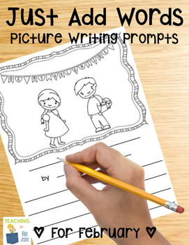 Picture Writing Prompts for February | Winter Writing Center | Valentine's Day