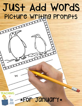 Picture Writing Prompts for January | Winter Writing Center | MLK Day