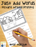 Picture Writing Prompts for March | Spring Writing Center Activities | Easter