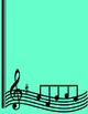 Just Add Your Text Musical Notes Border in 5 Colors