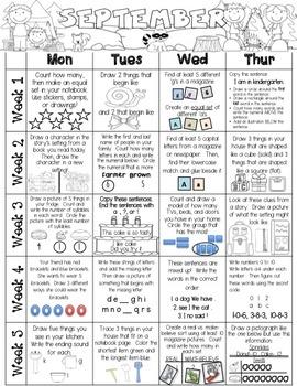 Just Add a Spiral Notebook: A Year of Kindergarten Homework - NWEA MAP Skills