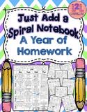 Just Add a Spiral Notebook: A Year of Kindergarten Homewor