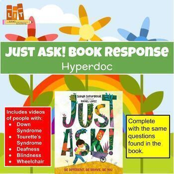Just Ask! Book Response HyperDoc