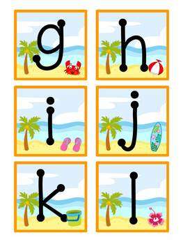 Just Beachy - ABC Cards