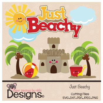 Just Beachy Beach Clipart/Cuttable File Set