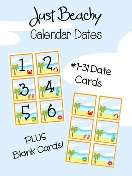 Just Beachy - Calendar Dates