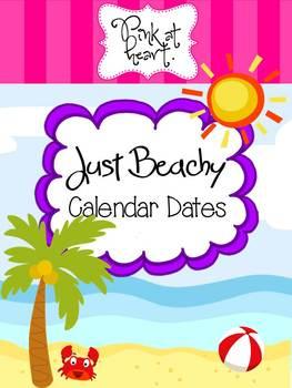 Just Beachy - Calendar Dates