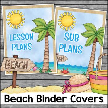 Beach Theme Binder Covers