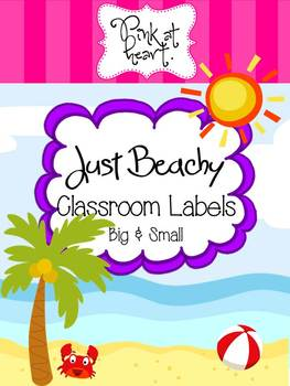Just Beachy - Classroom Labels
