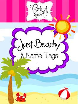 Just Beachy - Name Tags