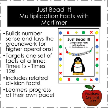 Just Bead It!  Multiplication Facts with Mortimer