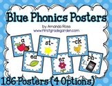 Just Blue Phonics Posters {186 Posters - 4 Options}