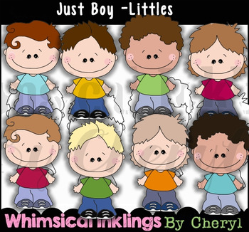 Just Boy Littles Clipart Collection