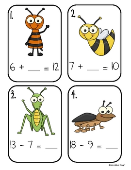 Just Buggin'! Math and Literacy Pack