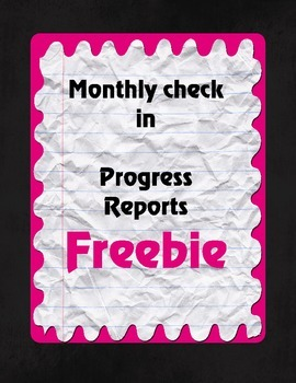 Just Checking in- Progress reports for grades K-2