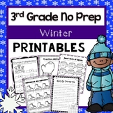 3rd Grade No Prep Winter Themed Printables