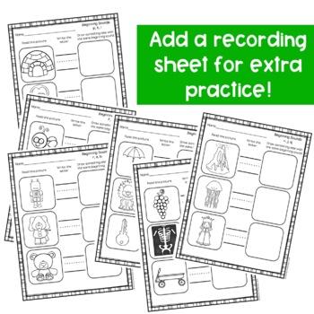Beginning Sounds Activities-Clip Cards