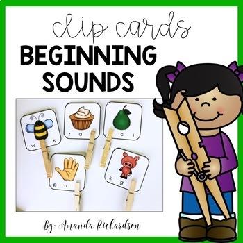 Beginning Sounds Activities Clip Carts