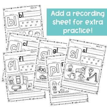 Beginning Blends Activities - Clip Cards