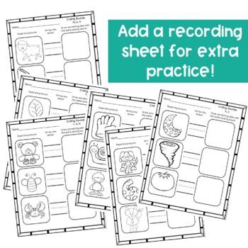 Ending Sounds Activities-Clip Cards