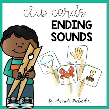 Ending Sounds Activities-Clip Cards