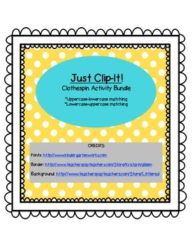 Just Clip-It! Upper and Lowercase Letter Matching