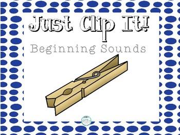 Just Clip it! Beginning Sounds