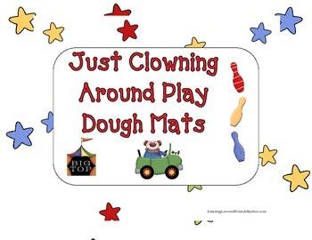 Just Clowning Around Play Dough Mats