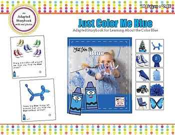 Just Color Me Blue - Adapted Book