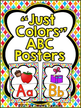 """Just Colors"" Alphabet Posters"