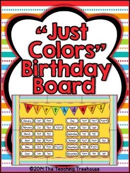 """Just Colors"" Birthday Bulletin Board Kit"