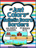 """Just Colors"" Bulletin Board Borders ~ Holidays & Seasonal"