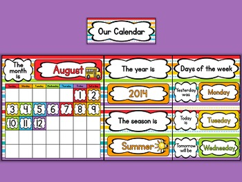 """""""Just Colors"""" Classroom Calendar"""